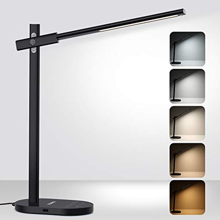 30%off Beschoi LED Desk Lamp with USB Charging Port Aluminum Alloy Material