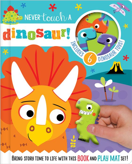 Never Touch a Dinosaur with 6 Dinosaur Toys - Read and Play