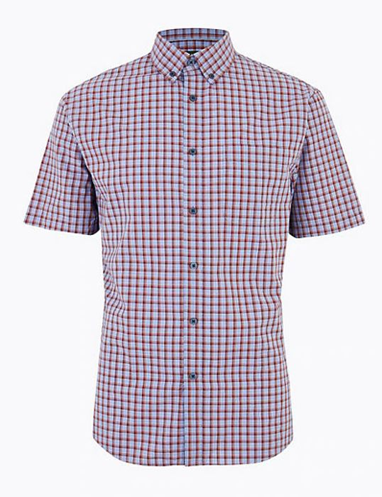 Pure Cotton Checked Shirt (2 for £30)