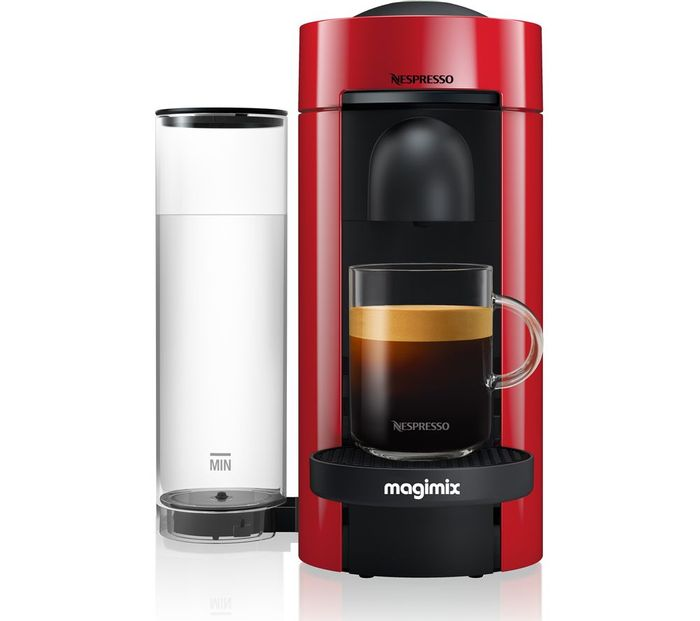 Best Price! NESPRESSO by Magimix Vertuo plus M600 Coffee Machine - Piano Red