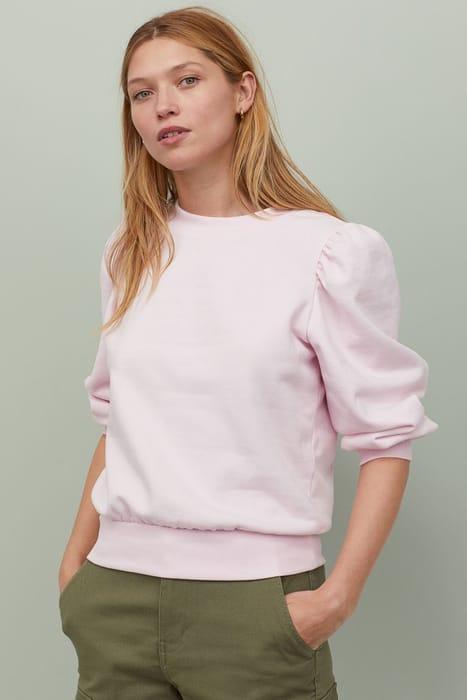 Puff-Sleeved Sweatshirt