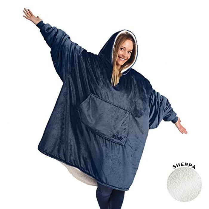 Oversized Wearable Sherpa Blanket, Seen on Shark Tank