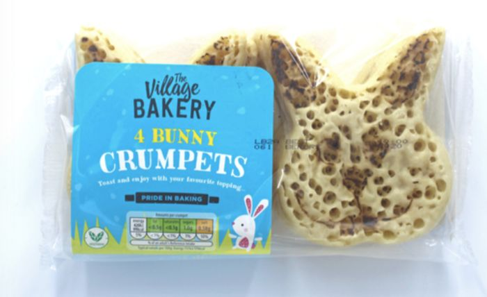 Aldi Easter Bunny Crumpets 4 Pack