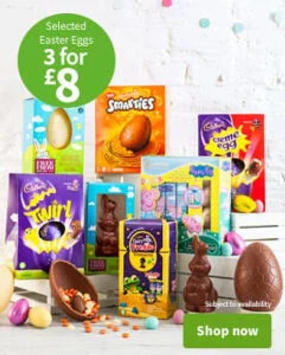 ASDA Easter Egg Sale - 3 Medium Eggs for £8