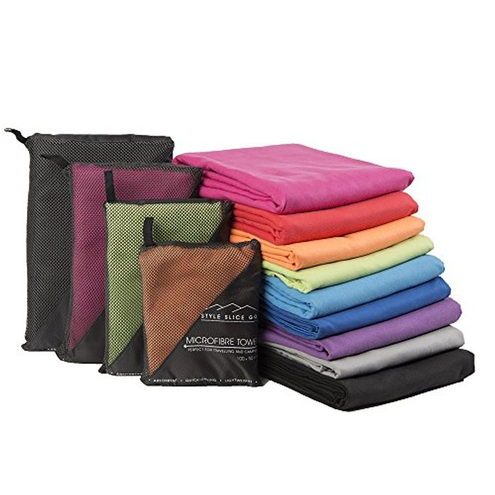 Best Price! Style Slice Microfibre Towel - Quick Dry Lightweight Super Absorbent