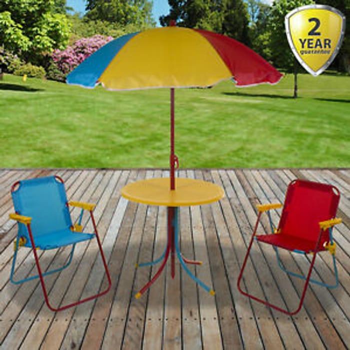 Kids Multi Coloured Garden Furniture Play Bistro Set