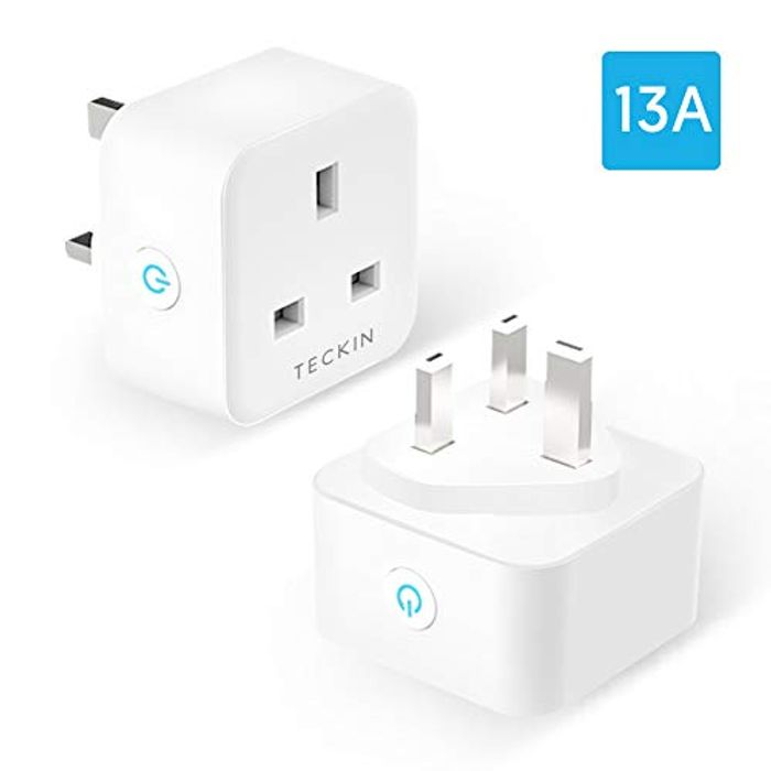 2 Pack Smart Plug with 13A WiFi Socket for Only £16.99
