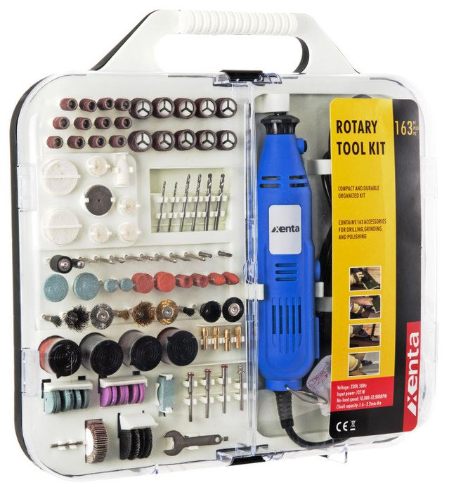 163 Piece Rotary Tool and Accessory Kit