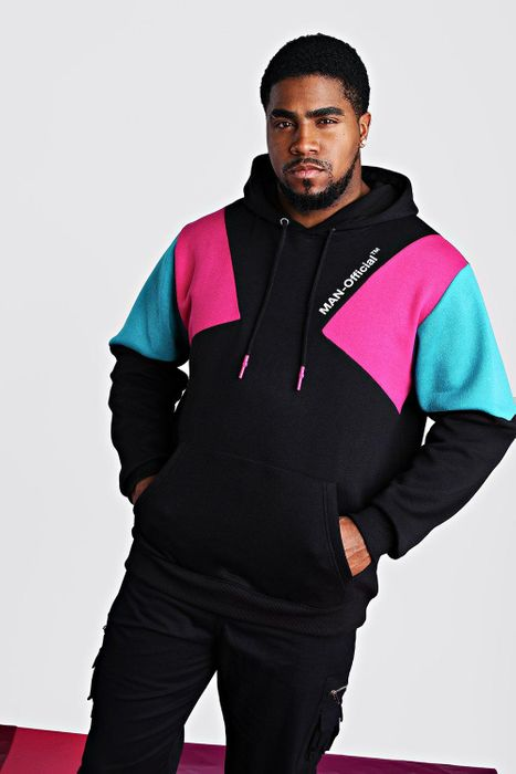 Big and Tall Man Official Printed Hoodie