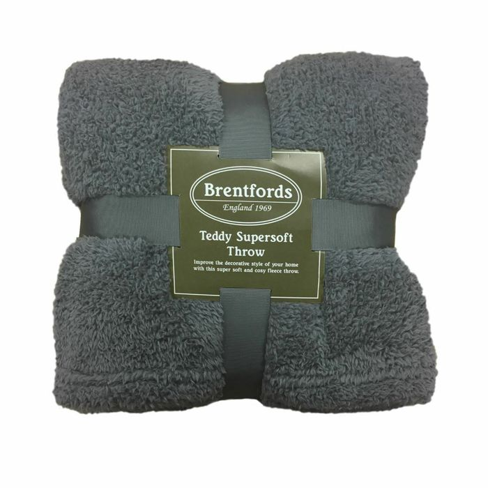 Cheap Teddy Bear Fleece Blanket / Throw £6.99 Delivered - 5 Colours