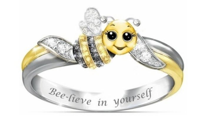 *SAVE 90%* Bee-Lieve in Yourself Ring