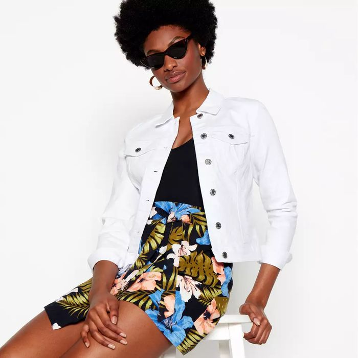 Vero Moda-White Denim Jacket