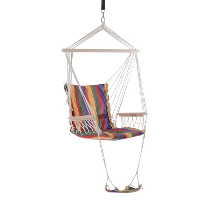 Outsunny Hanging Hammock-Multi-Colour