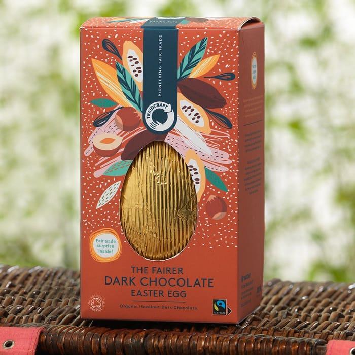 Half Price Organic Fair Trade Dark Chocolate Easter egg,Traidcraft