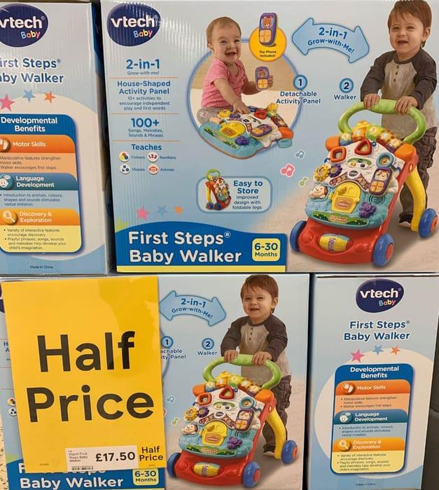 Half Price VTech First Steps Baby Walker 2 in 1