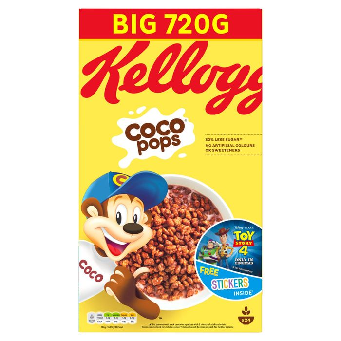 Cheap Kellogg's Coco Pops Cereal BIG PACK 720g - Only £3!