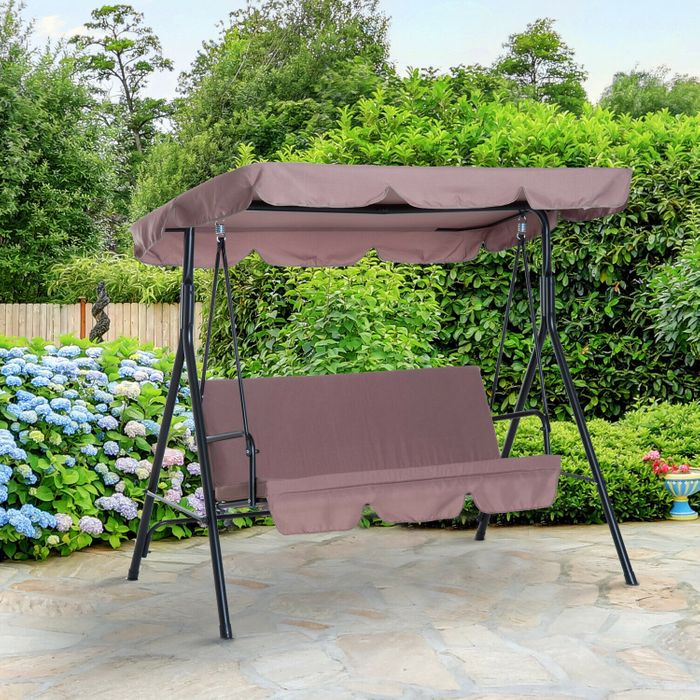 Garden 3 Seater Swing Chair £46.74 Delivered with Code 5 Colours