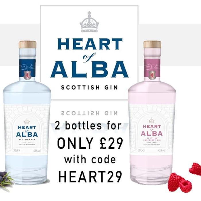 Two Bottles of Heart of Alba Gin for £29