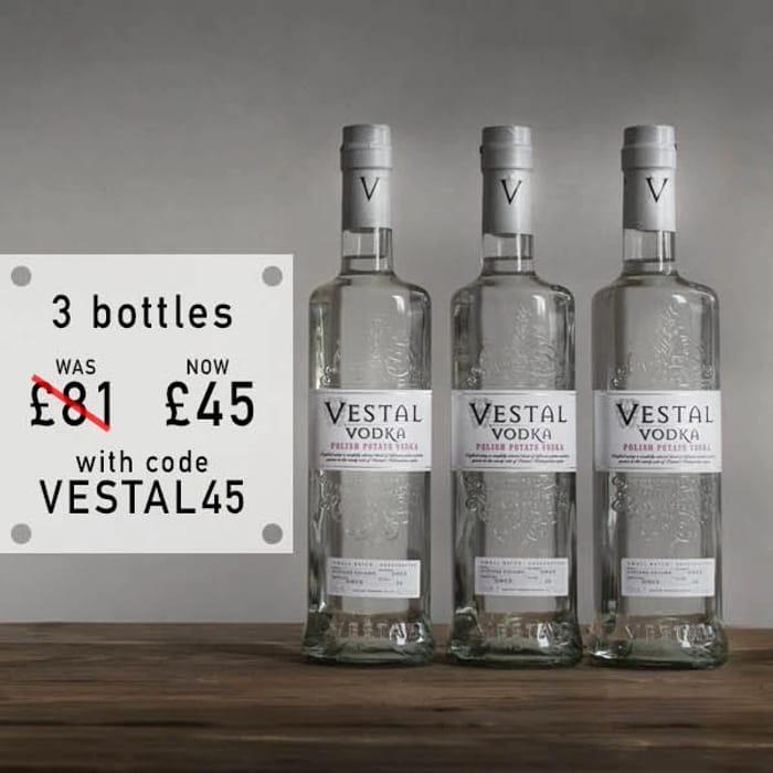 Buy 3 Bottles of Vestal Polish Potato Vodka for ONLY £45