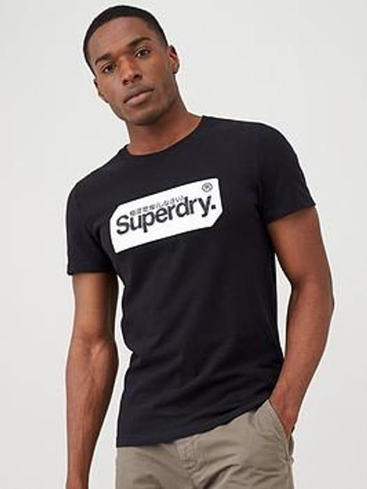Superdry Core Logo Tag T-Shirt - Black