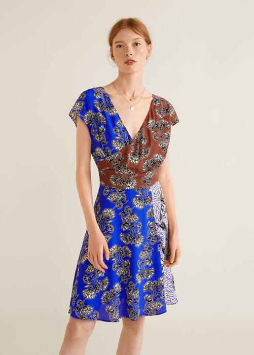 Mango Contrasting Print Dress - 83% Off