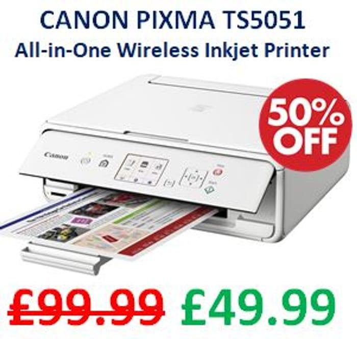 CANON PIXMA TS5051 All-in-One Wireless Inkjet Printer