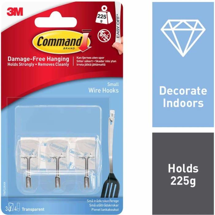 Command Damage Free Utensil Hanging Hooks 3 Pack