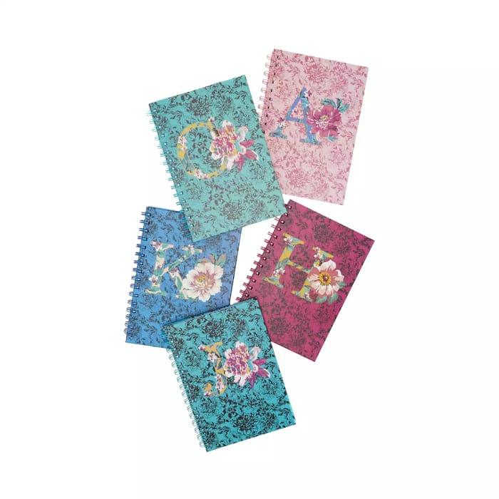 Mantaray - Floral Alphabet A5 Notebook