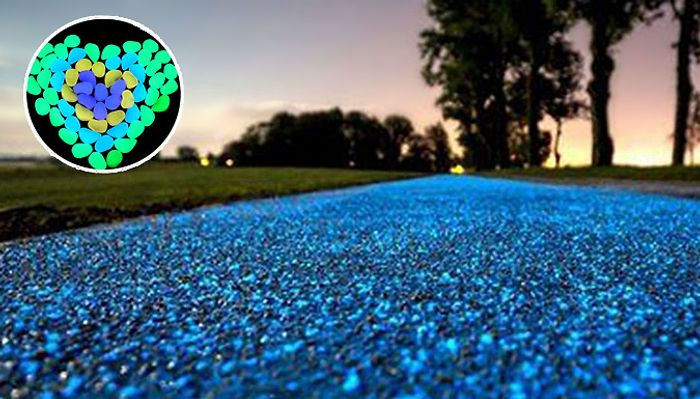 Hundred of Solar Powered Glow-in-the-Dark Garden Pebbles - 6 Colours