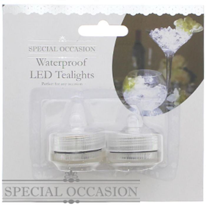 Special Occasion: Flameless Waterproof LED Tea Lights (Case of 96)