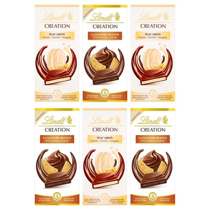 6 X Lindt Creation Orange & Vanilla 150g Chocolate Bars