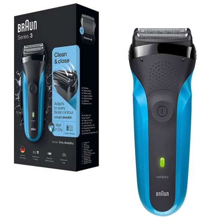 Braun Series 3 310s Waterproof and Rechargeable Electric Shaver