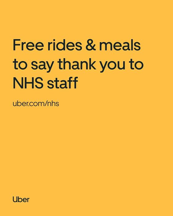 Uber Offering Free Rides to and from Work for NHS Workers
