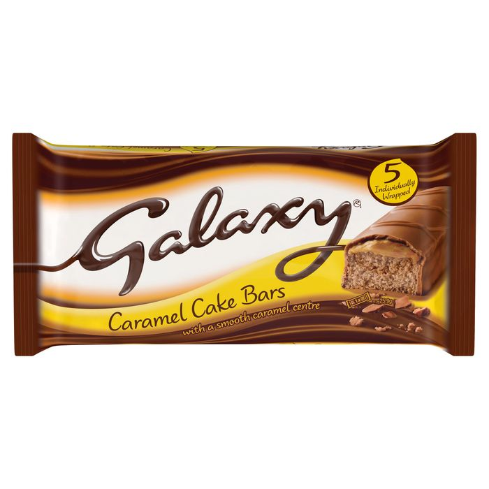Cheap Galaxy Caramel Cake Bars 5 Pack - Only £1!