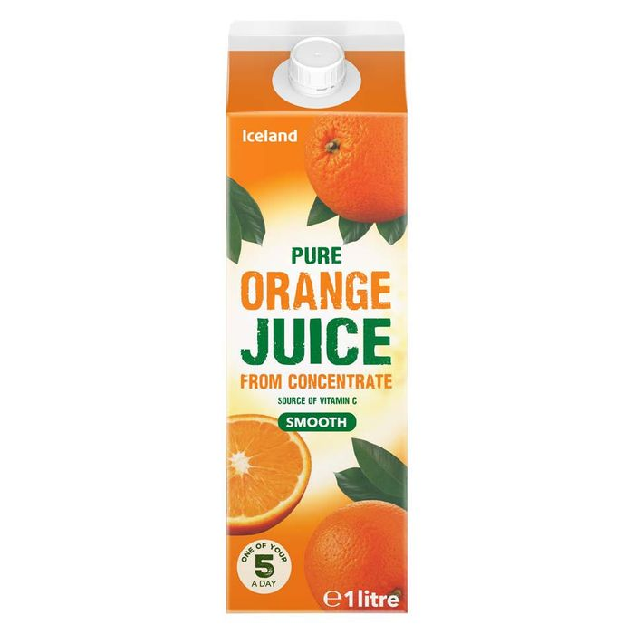 Cheap Iceland Pure Smooth Orange Juice from Concentrate 1L Only £0.89