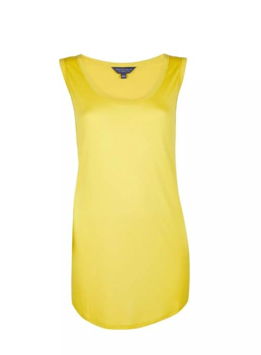 Tall Yellow Viscose Vest - Save £1.5