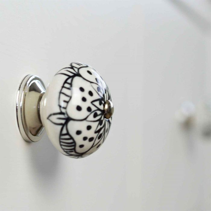 Floral Ceramic Door Knob/Handle (6 Diferent Designs)