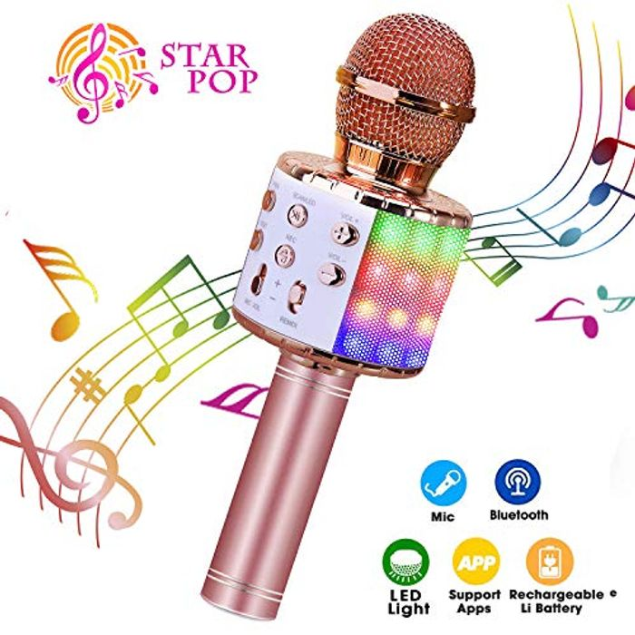 Karaoke Microphone, ShinePick 4 in 1 Wireless Bluetooth Microphone
