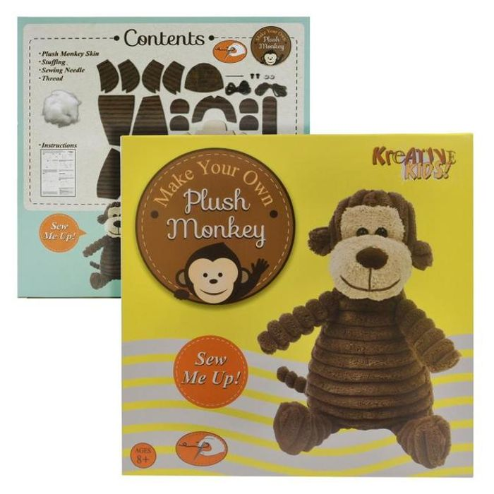 Make Your Own Stuff & Sew Plush Monkey - Only £1!