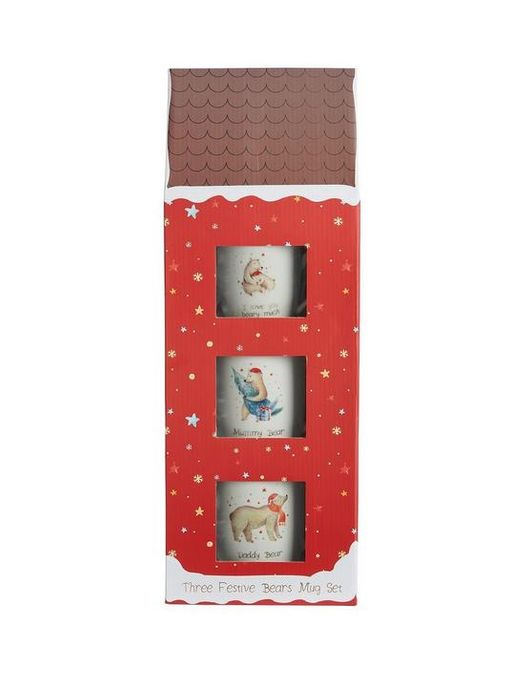 Cheap Mummy, Daddy and Baby Bear Mug Trio in a Giftbox Only £10.99
