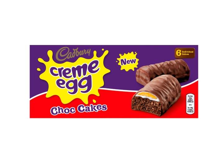 Cadbury Creme Egg Choc Cakes 6 Pack