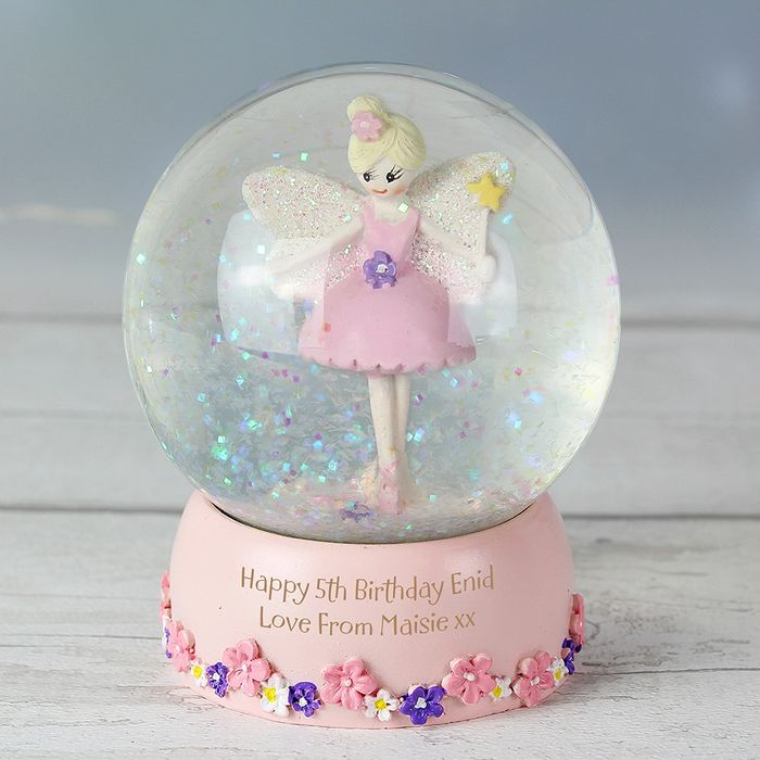 Cheap Personalised Fairy Glitter Snow Globe - Only £7.99!