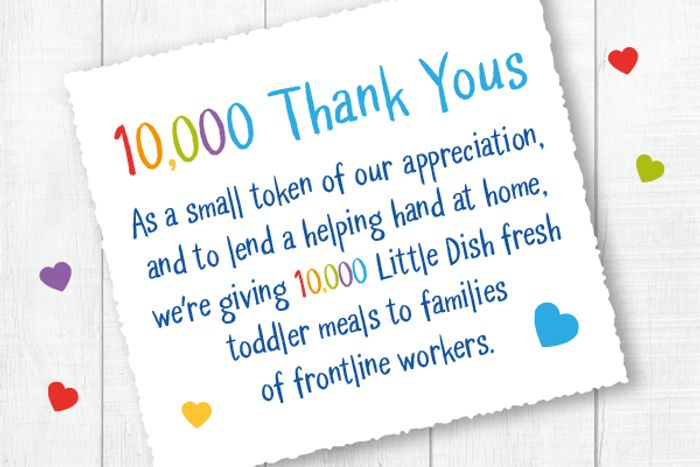 10000 Free Little Dish Fresh Toddler Meals for Frontline Workers