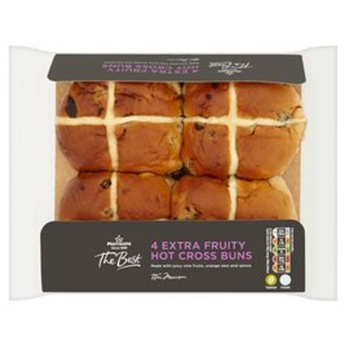 Morrisons the Best Extra Fruity Hot Cross Bun