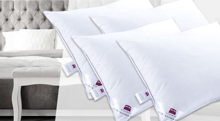 2 Extra Filled Duck Feather Pillows £13.99 Delivered