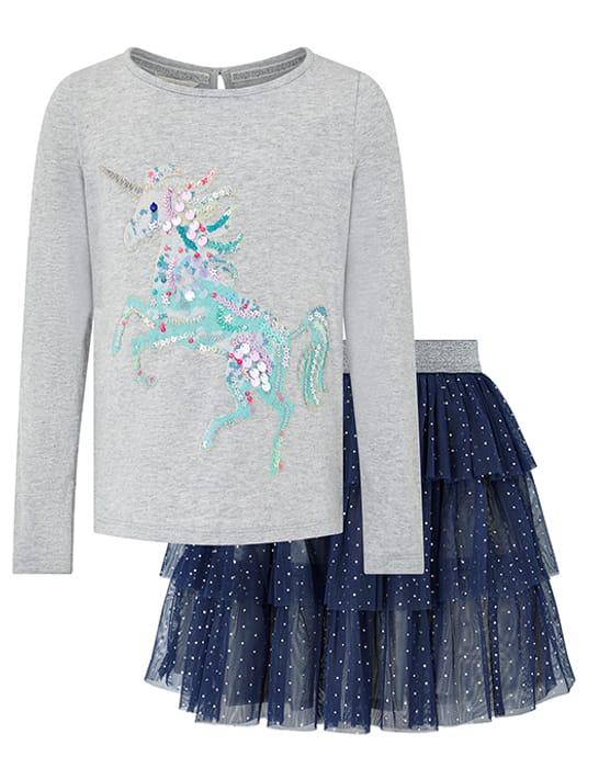 Disco Naia Unicorn Top and Skirt Set