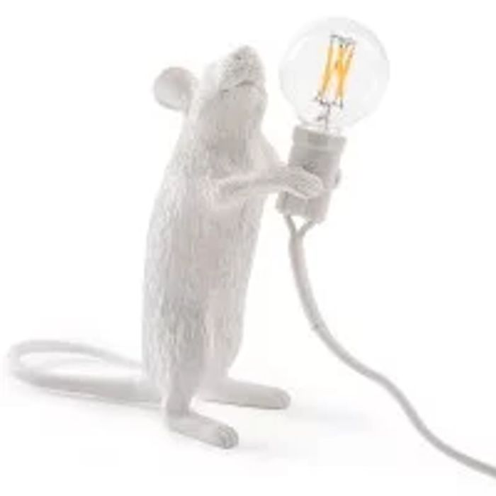Cheap Seletti Lop - Lying down Mouse Lamp (Grey) - Only £63!