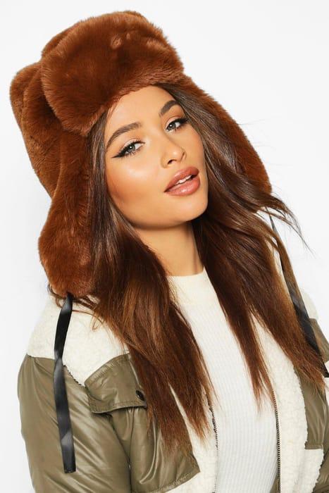 Faux Fur Trapper Hat, Only £6.00!