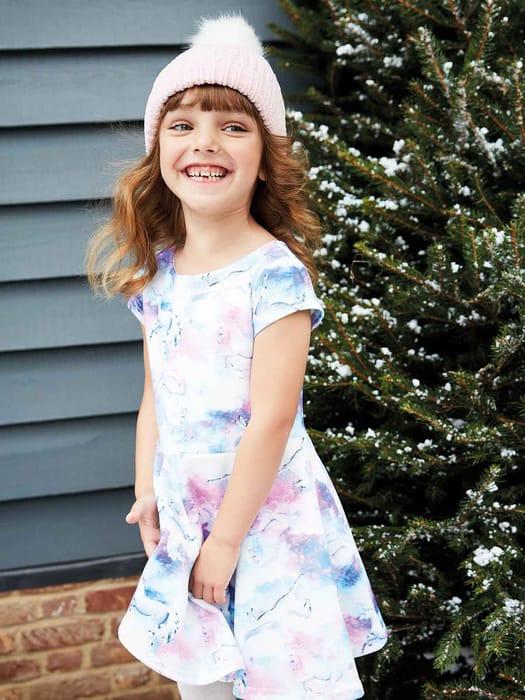 Younger Girls Purple Unicorn Dress