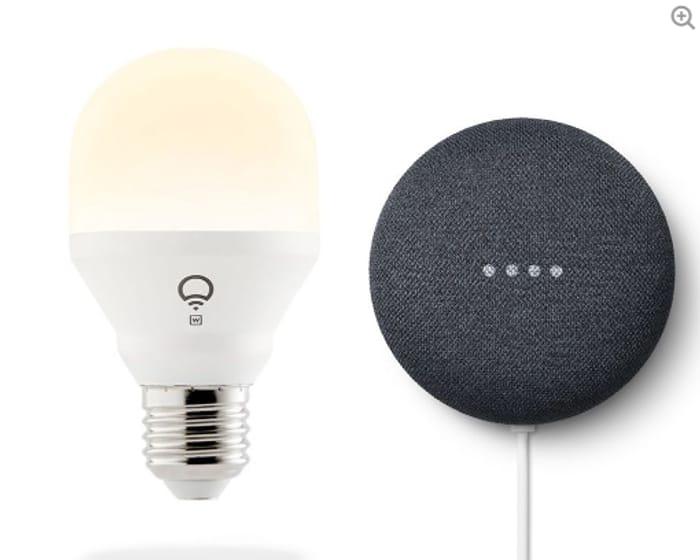 Special Offer! Google Nest Mini 2nd Gen + Smart Wifi Bulb £29 Delivered